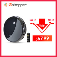 1600PA Suction Power Gradeability High cleaning efficiency Low decibel Smart Robot Vacuum Cleaner Colorful LED control panel