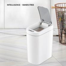 Automatyczny inteligentny czujnik kosz na śmieci domowy kosz w kształcie wiadra do przechowywania łazienka wodoodporny kosz na śmieci toaleta sypialnia salon kosz na śmieci tanie tanio CN (pochodzenie) SQUARE Stojący Ekologiczne Na stanie Wiadro na śmieci JG-2S Indukcja Household Bathroom Toilet Bedroom