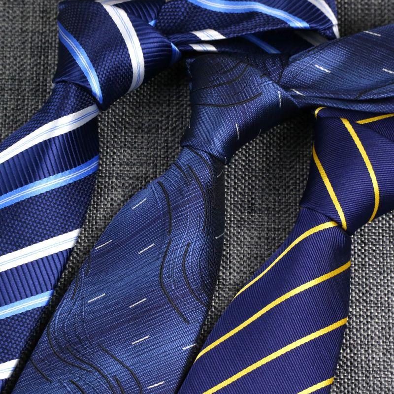 YISHLINE SALE 8CM Mens Ties Classic Necktie Blue For Men Stripe Plaid Grey Pink Business Bridegroom Tie Wedding  Accessories