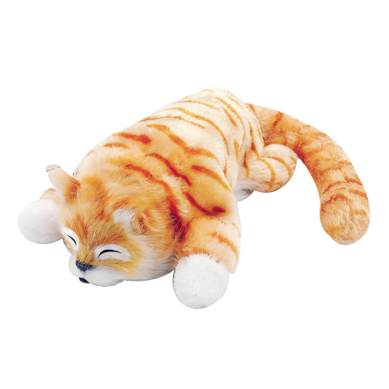 Voice Control Realistic Plush Simulation Electric Doll Cat Moving Rolling Cat Funny Interactive Pets Toys Gifts For Childen