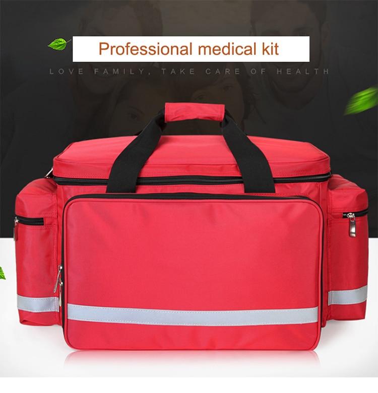 Outdoor First Aid Medical Bag Isolation Multi-pocket Large Storage Portable Cross Emergency Medical Bag Sports Travel Nylon Bag (1)