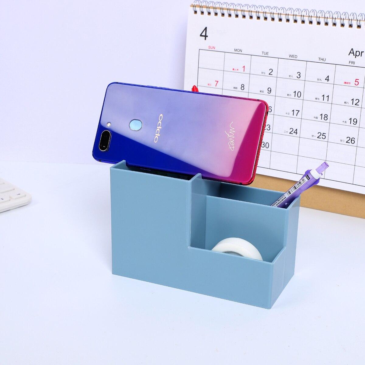 1pc Smart Phone Stand Desk Bracket With Multi-function Pen Pencil Holder Desk Decoration Mobile Phone Holder Organizer