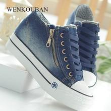Fashion Platform Sneakers Women Casual Canvas Shoes Tenis Fe