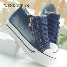 Fashion Platform Sneakers Women Casual Canvas Shoes
