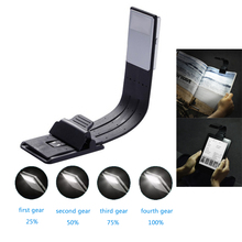LED Reading Book Light With Detachable Flexible Clip USB Charging Light for Kindle e book Brightness Adjustable Reading Lamp