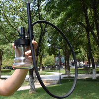 Outdoor Portable Shisha Set  Aluminum alloy Travel Shisha Glass Hookah Set Narguiles Sheesha Smoking Chicha