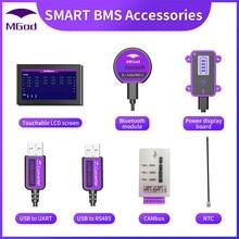 Bms acessório bluetooth usb inteligente para uart rs485 cabo canbus placa de alimentação toque tela lcd