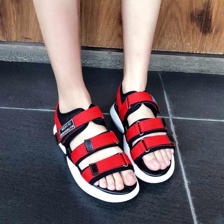 Büyük boy 11 12 13 14 yüksek topuklar sandalet kadın ayakkabı kadın yaz bayanlar Baitao eğlence kalın tabanlı kadın ayakkabısı