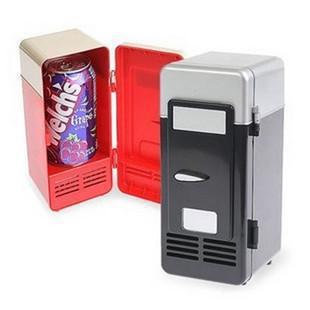 Настольный мини-холодильник USB гаджет банки для напитков охладитель теплее холодильник с внутренним светодиодный светильник для