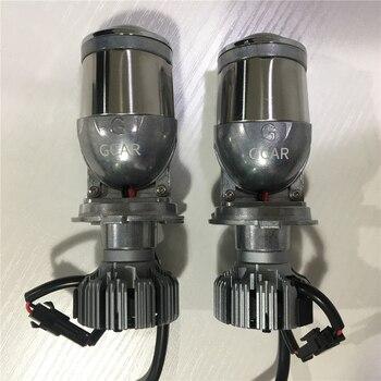Автомобильная фара Gcar, мини H4 светодиодный Би проектор, объектив, автомобильное освещение, фары для автомобилей