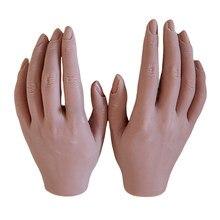 Ручная модель для практики ногтей, гибкие подвижные силиконовые искусственные руки для дизайна ногтей, модели искусств, инструменты для ма...