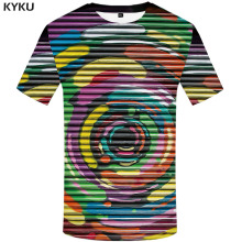 3d Tshirt Psychedelic T-shirt Men Dizziness Anime Clothes Graffiti Printed Abstract Funny T shirts Gothic T-shirts