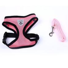 Breathable Washable Convnient Dog Vest-stylet Dress Bow Harness Dog leash Set for Small Dog Cat Pet Chest Strap Leash(China)