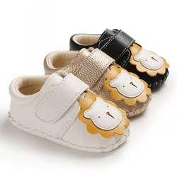 Весенне-Осенняя обувь для маленьких мальчиков и девочек Повседневная Удобная нескользящая Мягкая Обувь для малышей с рисунком льва из