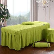Salão de beleza folha de cama breve beleza saia colcha com buraco corpo massagem cama cobrir