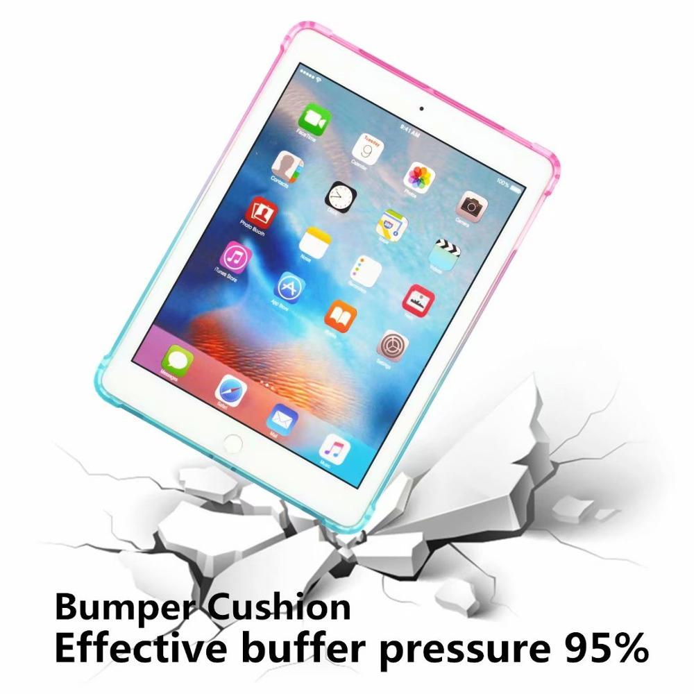 High Duty Coque for iPad 10 2 Case Shockproof A2200 A2198 A2233 Soft Silicone TPU Gradient