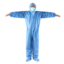 HOT Unisex Protective Clothing Isolation Antistatic Nonwovens Elastic Security Labour Suit Dust-proof