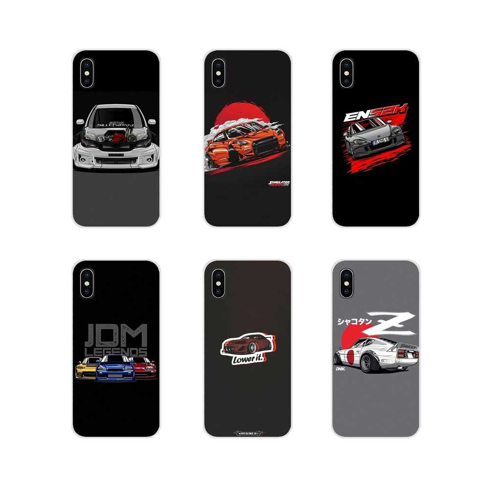 Soft Transparent Case For Huawei G7 G8 P7 P8 P9 P10 P20 P30 Lite Mini Pro P Smart Plus 2017 2018 2019 Drift Cars Auto Racing JDM