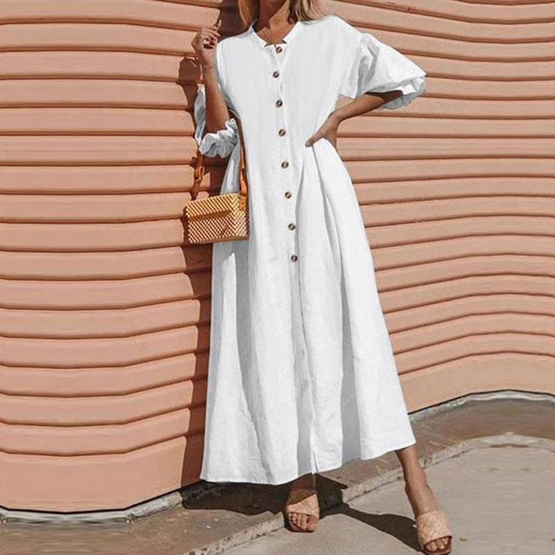 Летние платья в винтажном стиле; Элегантный фонарь рукав макси длинное платье 2020 женские Открытое платье без рукавов Повседневная обувь в б...