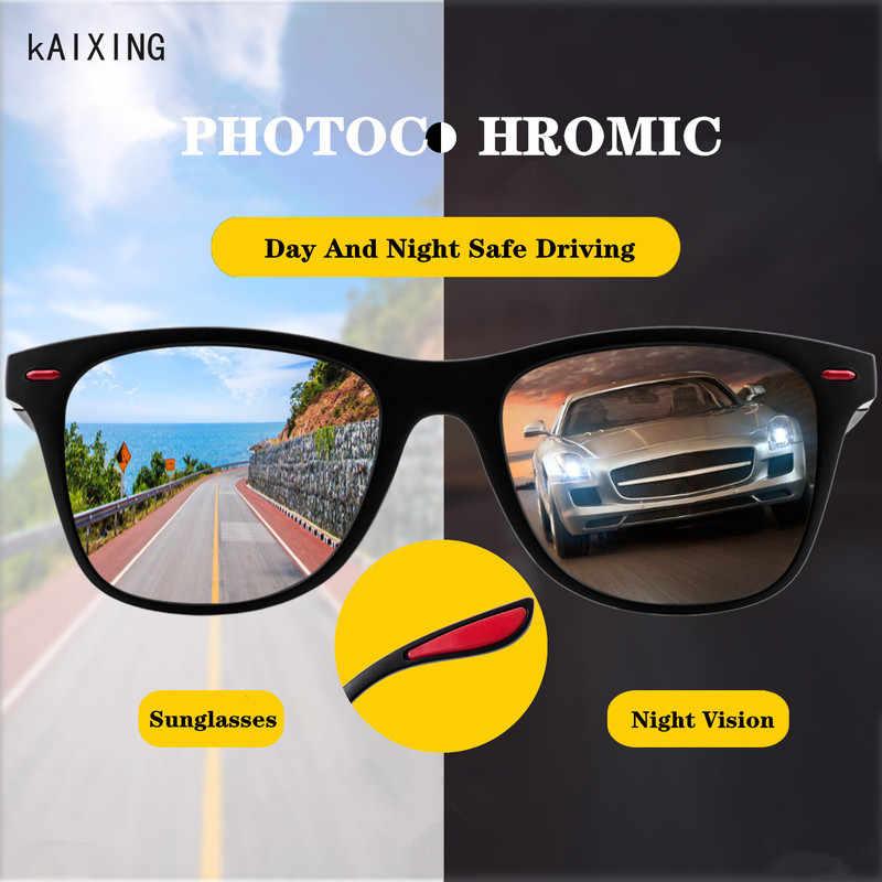 Day Night Vision Mens Polarized Sunglasses Driving Mirror Glasses Anti-high Beam