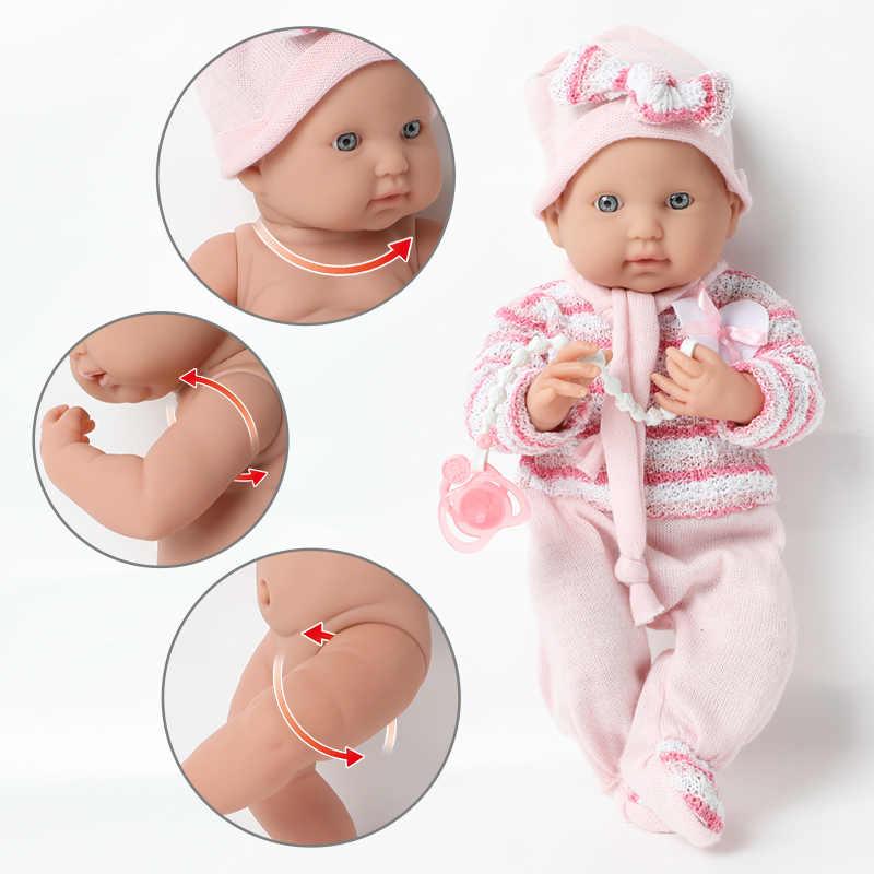 16 cali realistyczne reborn doll 40CM silikonowe bebe body sweter wodoodporna symulacja noworodka łańcuszek smoczka zestaw dla zabawek dla dzieci