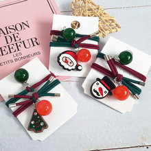 New Fashion Elastic Acrylic Hair Bands Children Ornaments Accessories Christmas Circle snowman Headband