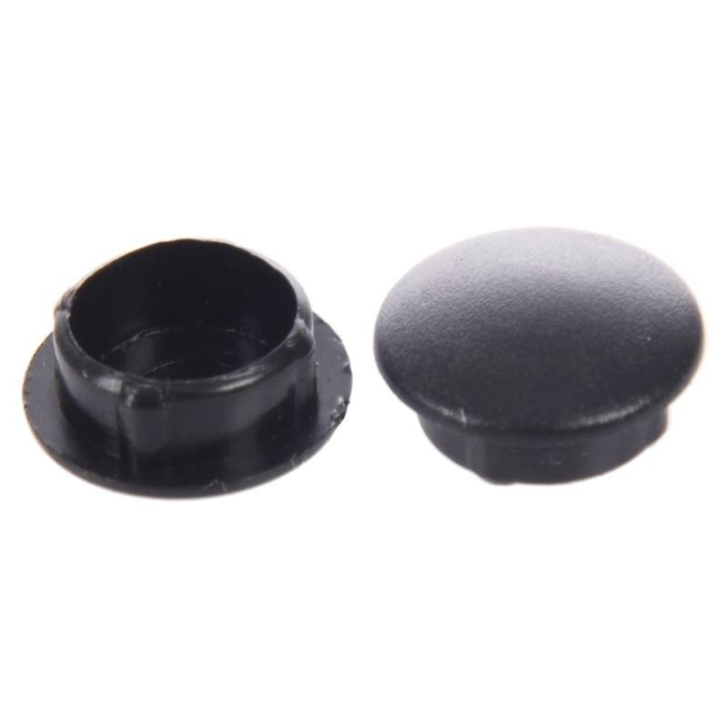 Качество 10 шт. пластик 10 мм Диаметр заподлицо трубы вставки крышки черный