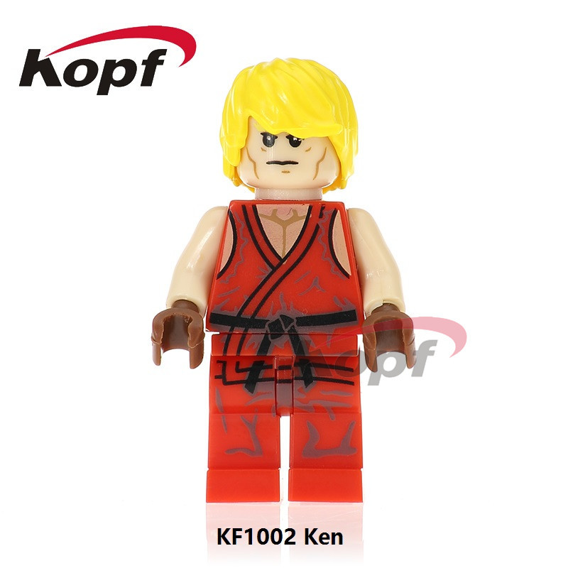 Kefeng Building Blocks Kf1002 Arcade Crazy Game Street Fighter Eight-Character Ken Assembled Doll Toy Bag image