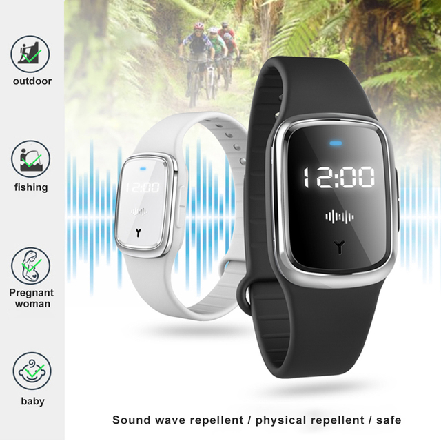 Anti Mosquito Insect Digital Watch Kids Adult Ultrasonic Bug Repellent Wristband 2