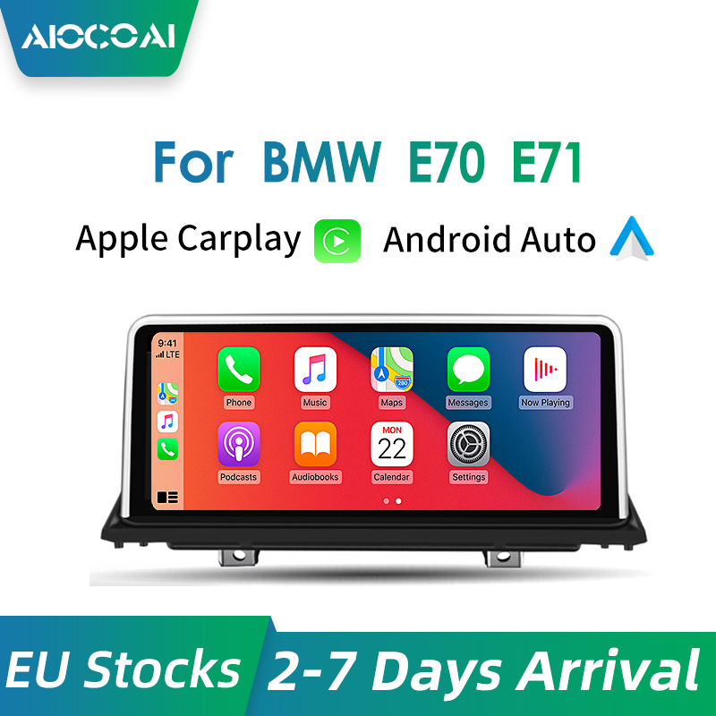 Apple CarPlay проводной сенсорный экран 10,25 дюйма, для BMW X5 X6 E70 E71 E72 CCC / CIC