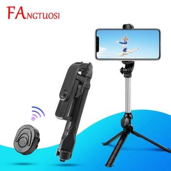 FANGTUOSI 3 in 1 Wireless Bluetooth Selfie Stick Foldable Monopod Mini Tripod Selfie Stick with Shutter Remote Control