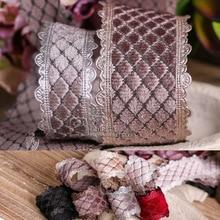 100 jardów 25mm 38mm picot edge aksamitna diamentowa chusta koreańska wstążka na materiały na wesele akcesoria do kokardki do włosów