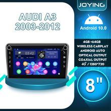 "8 ""GPS מולטימדיה נגן אנדרואיד 10 רכב רדיו סטריאו אחורית מצלמה DVR עבור אאודי A3 2003 2012 S3 2006 2012 RS3 Sportback 2011"
