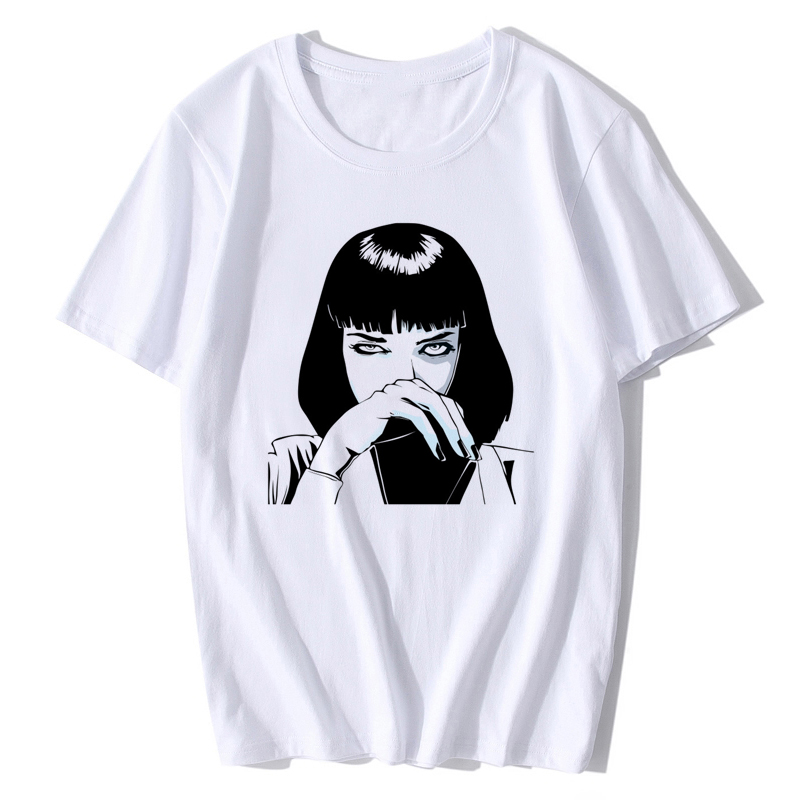 Mia Wallace Pulp Fiction T Shirt New Summer Fashion Poster 1994 Quentin Tarantino Men O-neck Shoer Sleeve T-shirt Tee Top XS-XXL