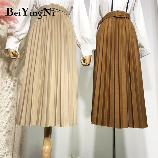 Beiyingni High Waist Women Skirt Casual   2