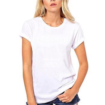 Camiseta de cuello redondo de moda para mujer, camiseta informal de cuello...