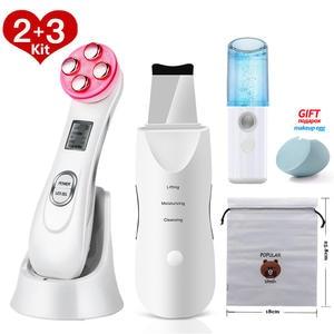 Pore-Cleaner Skin-Scrubber Peeling-Machine Blackhead-Remover Facial-Massager EMS LED