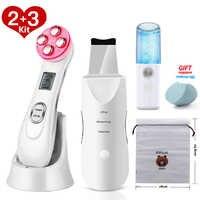 Ultraschall Haut Wäscher Gesichts Reinigung Peeling Maschine Poren Reiniger EMS LED Anti Aging Gesichts Massager EMS Mesotherapie