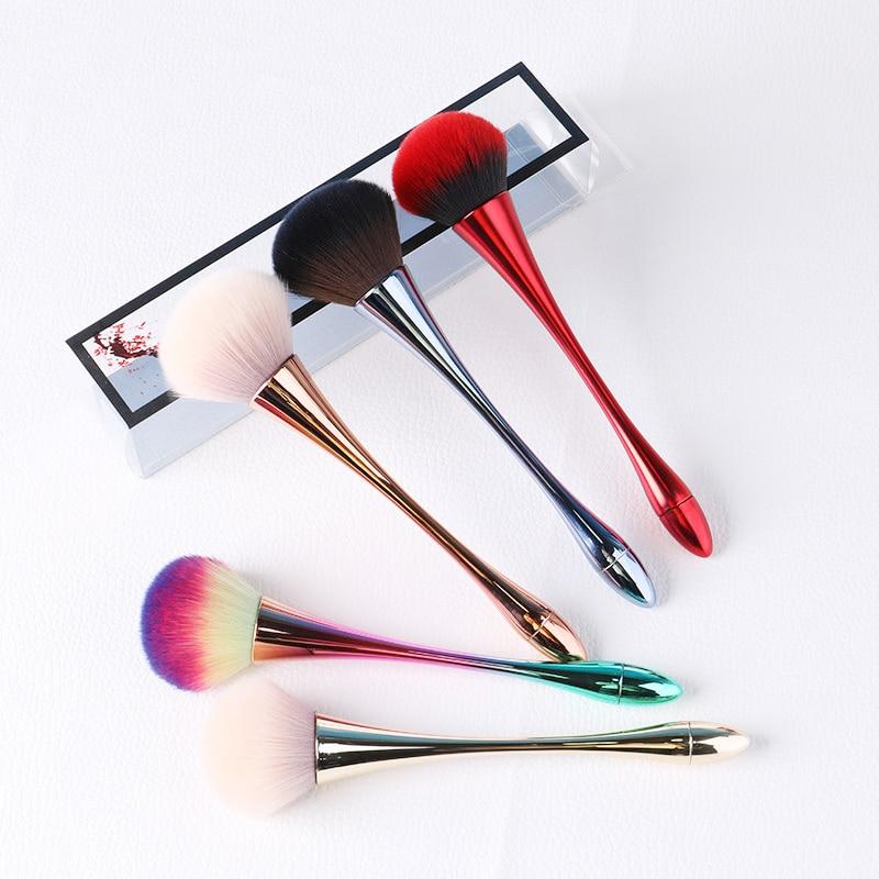 Profesyonel makyaj fırça büyük gül altın vakfı pudra allık fırçası aracı seti kozmetik çok yumuşak büyük boy yüz makyaj fırça