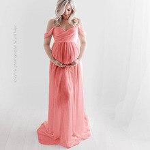 Шифоновые длинные платья без бретелек для беременных, длинные платья с разрезом спереди для беременных, белое платье макси для фотосессии