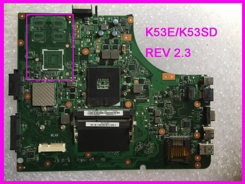 K53E K53SD Motherboard For Asus A53S K53SD K53S K53E Laptop Motherboard DDR3 REV 2.3 Test Work 100%