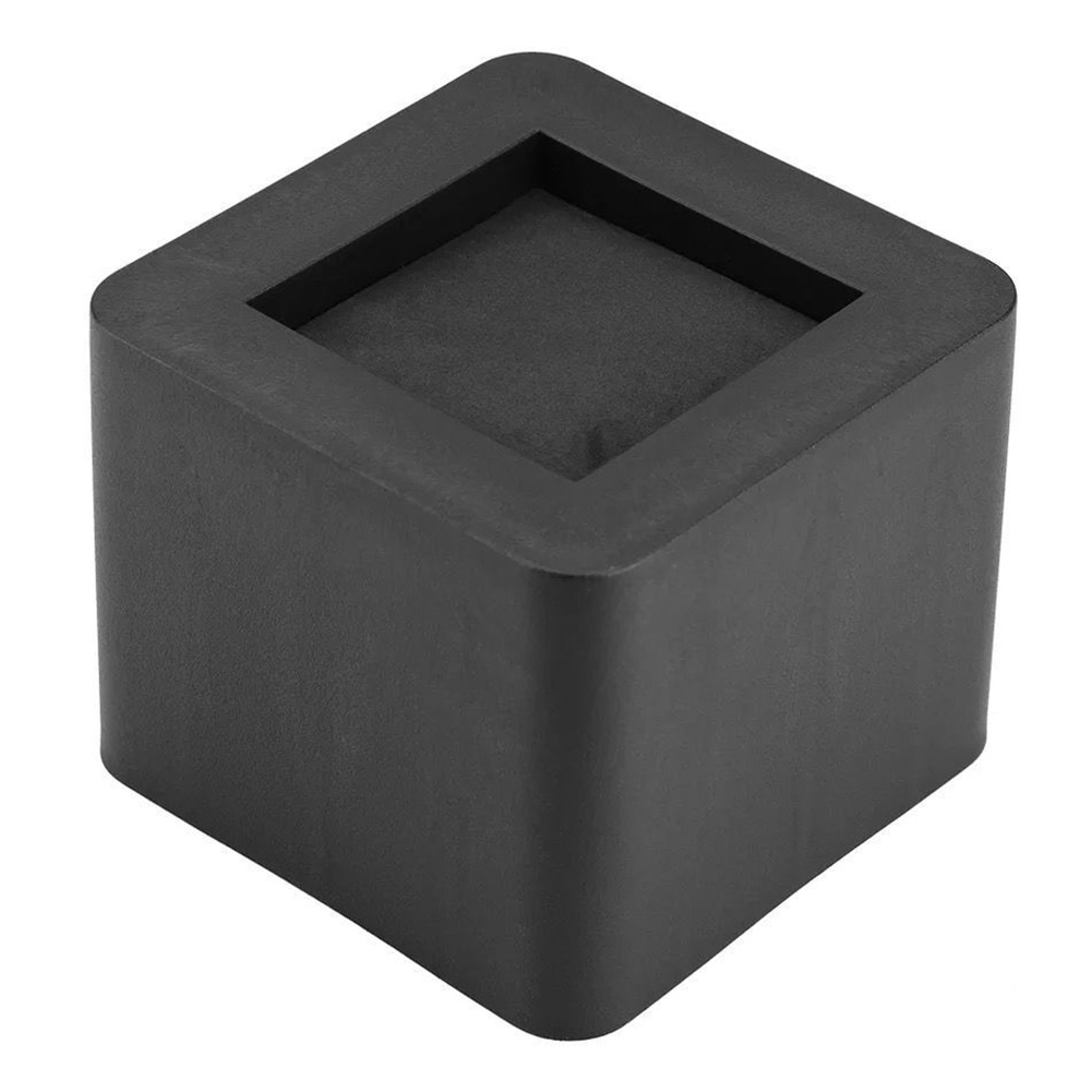 4pcs Anti slip furniture <font><b>legs</b></font> Feet Black Speaker Cabinet bed <font><b>Table</b></font> Box Conical <font><b>rubber</b></font> shock pad floor protector Furniture Parts image