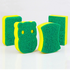 Image 3 - 10 adet yüksek yoğunluklu sünger mutfak temizlik araçları yıkama havlu silme bezi sünger ovma pedi mikrofiber bulaşık temizleme bezi