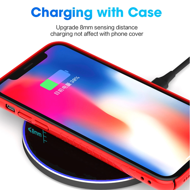 15W QI Quick Charge Fast Wireless Charger For Samsung S10 S9 10W Tpye C QC