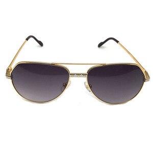 Мужские и женские солнцезащитные очки-авиаторы в металлической оправе, дизайнерские винтажные очки-авиаторы 912