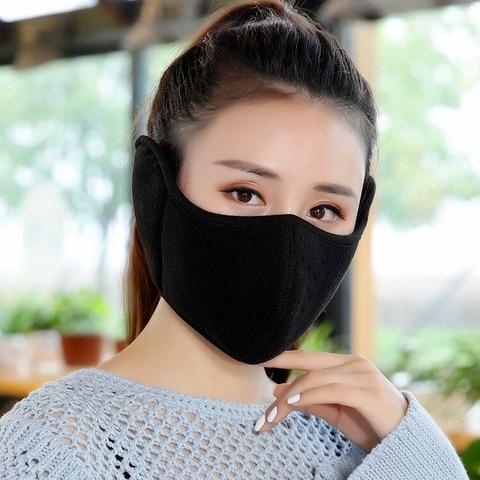 Velvet Men Women Ear Protective Mouth Mask Windproof Earmuff Anti Dust Winter Masks Breathable Anti Haze Flu Face Masks Islamabad