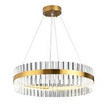 W zestawie taśma LED Post-modern złoty okrągły kryty wisiorek LED Light z kryształ wysokiej jakości w salonie jadalnia (DZ-15)