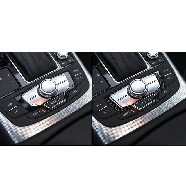 Für Audi A6 S6 C7 A7 S7 4G8 2012-2018 Zubehör Carbon Fiber Interior Center Konsole Multimedia Schalter Panel abdeckung Trim Sticke