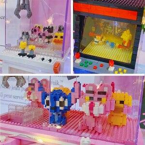 Image 5 - Gratis Verzending Clasic Mini Bouwstenen Cartoon Speelgoed Fighter Game Model Ufo Clip Pop Catcher Bouwstenen Brinquedos Kid