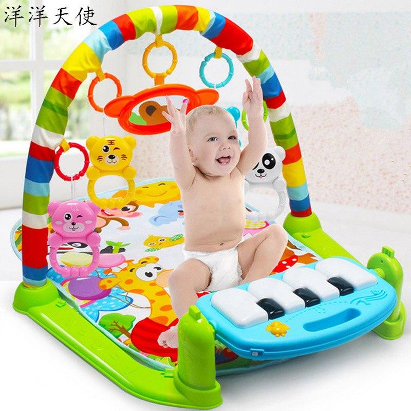 Bébé activité Gym jouets lumière musique hochet bébé jouer tapis pédale Piano enfants jouets Montessori bébé Mobile infantile enfant en bas âge apprentissage jouet
